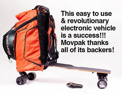 Skate eléctrico con mochila