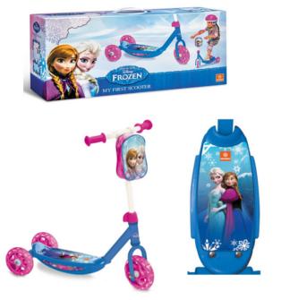 Patinete Frozen barato de 3 ruedas y con bolsa