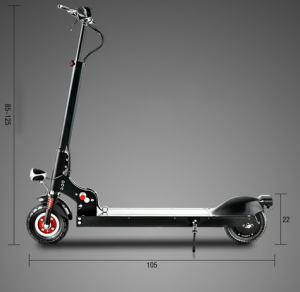 Medidas Monopatín Scooter Eléctrico Plegable