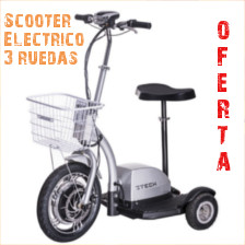 Scooter electrico de 3 ruedas para personas discapacitadas