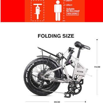 bicicleta eléctrica plegable todo terreno
