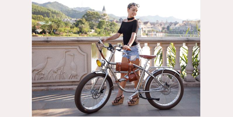 Bicicleta eléctrica de acero inoxidable