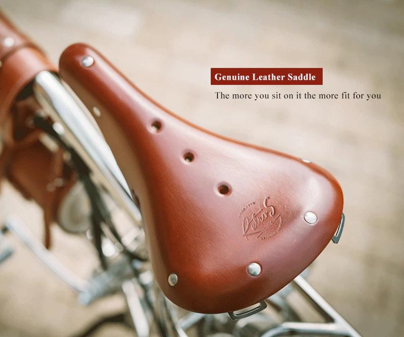 sillin bicicleta cuero
